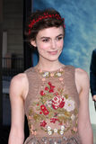 Keira Knightley arrives at the royalty free stock images