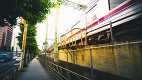 Keisei drev för 3300 serie, Tokyo Arkivfoto