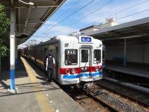 Keisei-Eisenbahn - Shibamata-Station Stockfoto