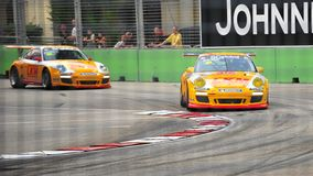 Keita Sawa racing at Porsche Carrera Cup Asia Stock Photography