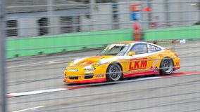 Keita Sawa racing at Porsche Carrera Cup Asia Stock Photo