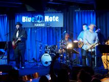 Keith Baltin, Mike Lewis & Friends at the Blue Note Hawaii. Waikiki - January 25, 2017: Keith Baltin, Mike Lewis & Friends at the Blue Note Hawaii on Honolulu royalty free stock photography