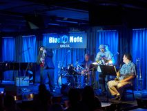 Keith Baltin, Mike Lewis & Friends at the Blue Note Hawaii. Waikiki - January 25, 2017: Keith Baltin, Mike Lewis & Friends at the Blue Note Hawaii on Honolulu stock photography