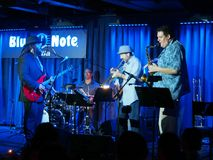 Keith Baltin, Mike Lewis & Friends at the Blue Note Hawaii. Waikiki - January 25, 2017: Keith Baltin, Mike Lewis & Friends at the Blue Note Hawaii on Honolulu royalty free stock photo