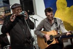 Keith Dunn & för drev fyra deppighetmusikband - jazz i Kiev fotografering för bildbyråer