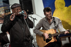 Keith Dunn & Train Four Blues Band - Jazz in Kiev stock image
