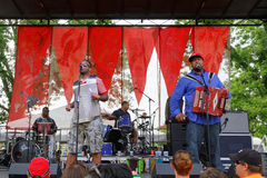 Keith Frank & the Soileau Zydeco Family  Royalty Free Stock Image