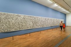 Keith Haring illustration at Albertina Museum royalty free stock image