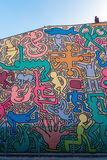 Keith haring murales  in pisa. Keith haring murales  on pisa's church Stock Photos