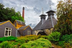 KEITH, UNITED KINGDOM - SEPTEMBER 6 2013: Strathisla distillery factory buildings, Keith, UK Royalty Free Stock Photos
