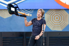 Keith Urban. NEW YORK-JUL 11: Keith Urban performs on ABC's Good Morning America at Rumsey Playfield, Central Park, on July 11, 2014 in New York City royalty free stock image