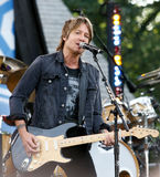Keith Urban. NEW YORK-JUL 11: Keith Urban performs on ABC's Good Morning America at Rumsey Playfield, Central Park, on July 11, 2014 in New York City stock image
