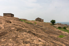 Keivlakte binnen historisch Dindigul-Rotsfort stock fotografie
