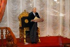 Keizer Akihito in het parlement, Tokyo, Japan royalty-vrije stock afbeelding