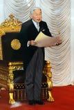 Keizer Akihito in het parlement, Tokyo, Japan royalty-vrije stock foto's