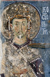 Keizer Constantine, fresko van Mileseva Royalty-vrije Stock Afbeelding