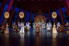 Keizer de lijfwacht-tweede handeling: een feest in de van het paleis-heldendicht de Zijdeprinses ` dansdrama ` stock fotografie