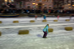Keizer Ice Skating Race Stock Photo