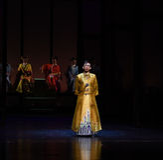 Keizer Yong Zheng-Opening het eerste handeling-moderne drama stock foto