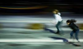 Keizergracht Ice Skating Race Stock Images