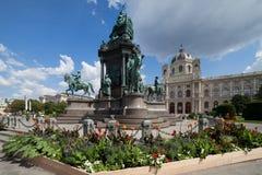 Keizerin Maria Theresa Monument in Wenen Royalty-vrije Stock Afbeeldingen