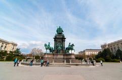 Keizerin Maria Theresia Monument en Art History Museum in Wenen, Oostenrijk Stock Foto's