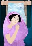 Keizerin in Sari Royalty-vrije Stock Foto's