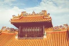 Keizerroyal palace van Nguyen-dynastie in Tint, Vietnam De tint is royalty-vrije stock fotografie