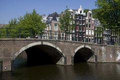 The Keizersgracht in Amsterdam. Netherlands Stock Photos