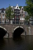 The Keizersgracht in Amsterdam. Netherlands Royalty Free Stock Photos