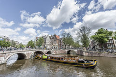 Keizersgracht canal in Amsterdam, Netherlands. Royalty Free Stock Photo