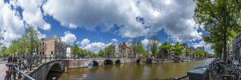 Keizersgracht canal in Amsterdam, Netherlands. Stock Photography