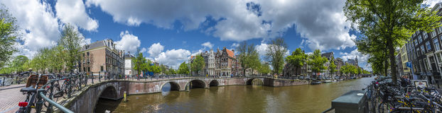 Keizersgracht canal in Amsterdam, Netherlands. Stock Images