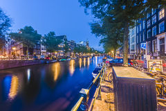 Keizersgracht canal in Amsterdam, Netherlands. Stock Image