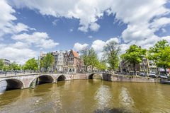 Keizersgracht canal in Amsterdam, Netherlands. Royalty Free Stock Images