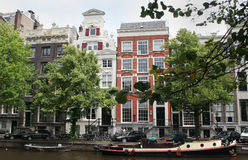 Keizersgracht, nice view on a famous Amsterdam canal Stock Photos