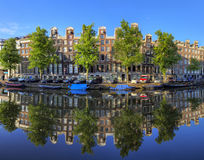 Keizersgracht reflection Royalty Free Stock Images