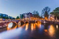 Keizersgrachtkanaal in Amsterdam, Nederland Stock Foto's