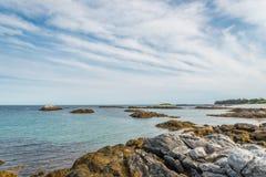 Keji sjösidakust Arkivfoton