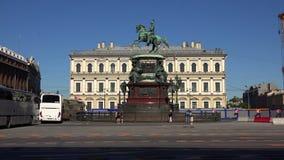 kejsare mig monument nicholas till St Petersburg 4K arkivfilmer