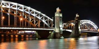 Kejsare Peter den stora bron Fotografering för Bildbyråer