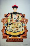 Kejsare Qianlong och drottning av Qing Dynasty i Kina Arkivbild
