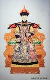 Kejsare Qianlong och drottning av Qing Dynasty i Kina Royaltyfri Bild