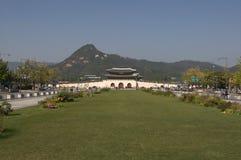 Kejsareslott Gyeongbokgung Arkivbild