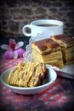 Kek Lapis- Layered Cake with coffee Stock Image