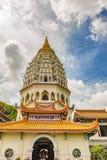Kek Lok Si至尊极乐寺庙在槟榔岛马来西亚 免版税图库摄影