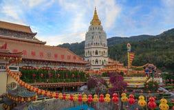 Kek Lok Si buddhish tempel i Penang Malaysia arkivfoton
