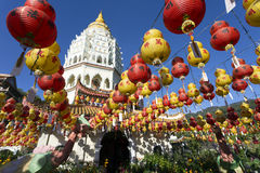 Kek Lok Si Chinese Buddhist Temple Penang Malaysia royaltyfria bilder