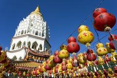 Kek Lok Si Chinese Buddhist Temple Penang Malaysia arkivfoton
