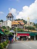 Kek Lok Si tempel, den kinesiska templet, Georgetown, Penang, Malaysia royaltyfri foto